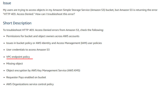 AWS S3 and VPC 1