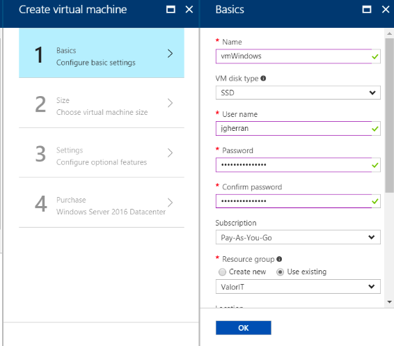 Creating Azure Virtual Machine