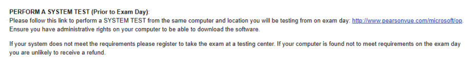 perform a system test