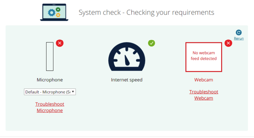 take a system check for requirements