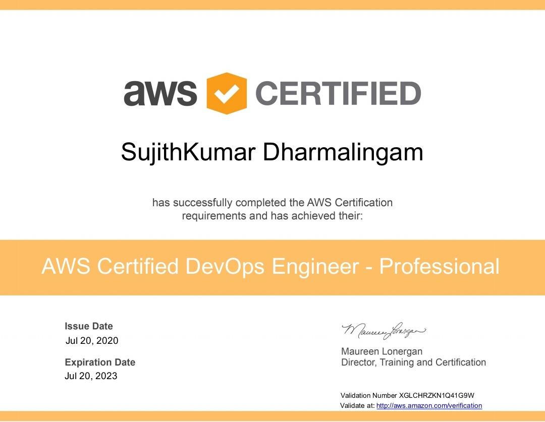 AWS DevOps certification