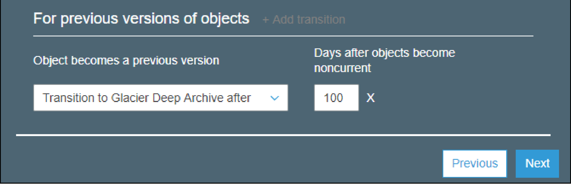 AWS S3 Bucket Lifecycle Rule - Transitions