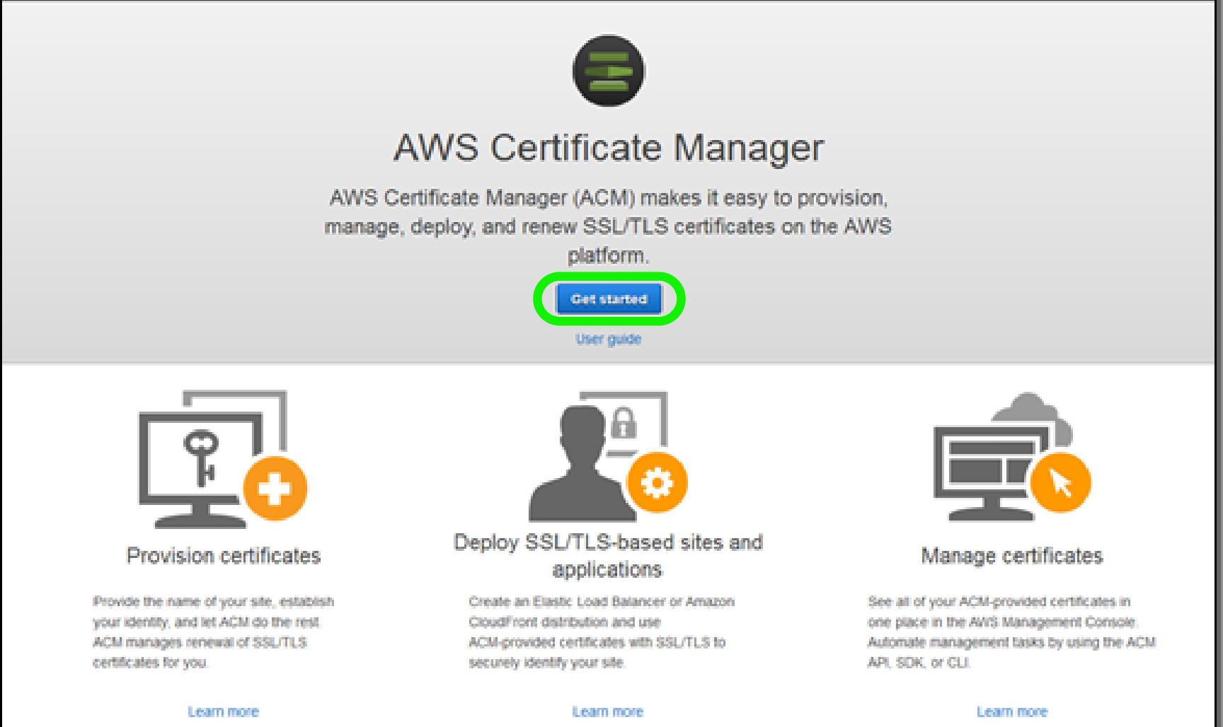 AWS Certificate Manager - Get Started