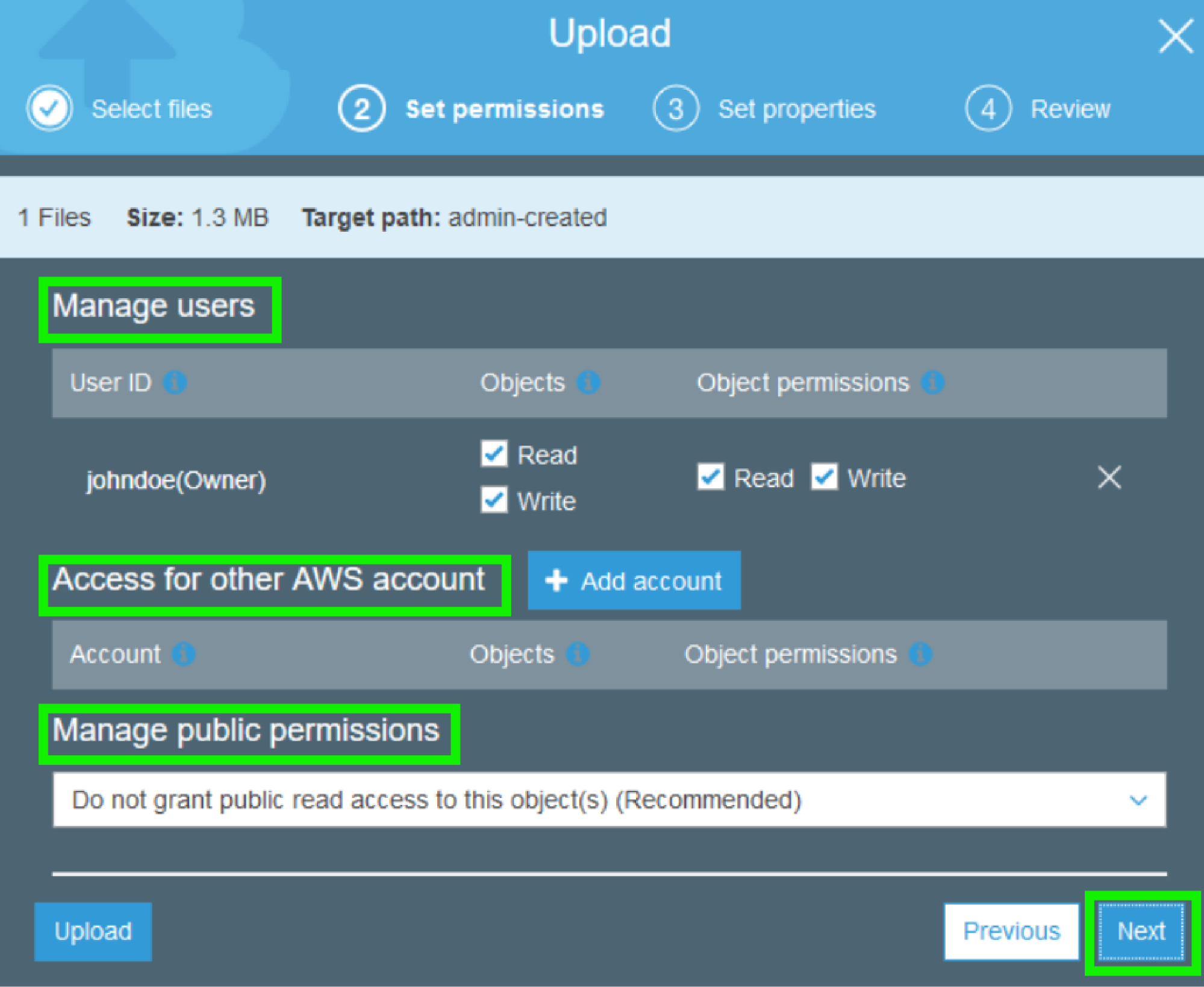 AWS S3 - Manage Users