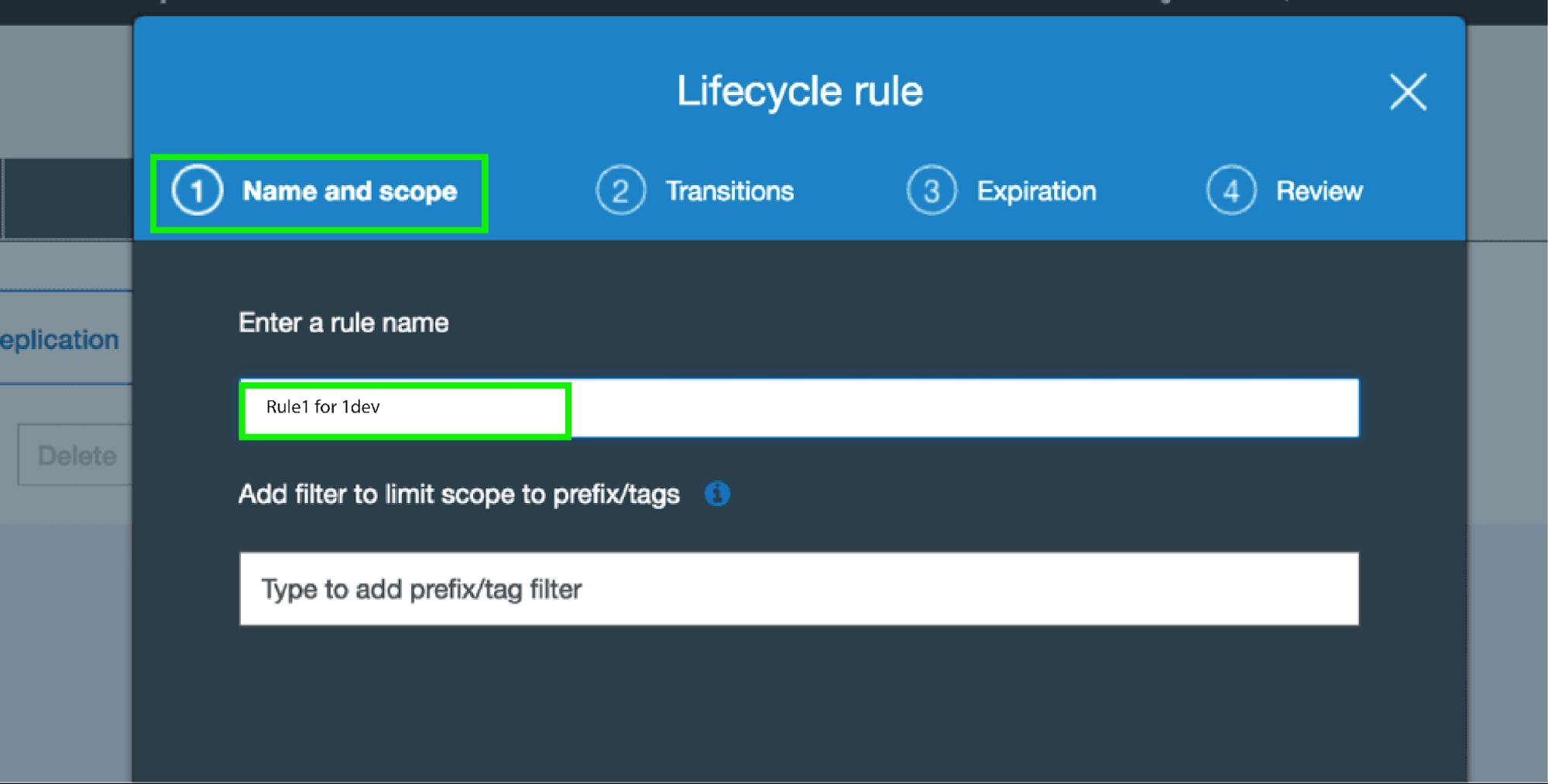 AWS S3 Bucket Lifecycle Rule - Scope