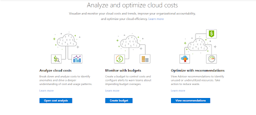Azure Cost Management - Examine your Subscriptions using Azure Cost Management
