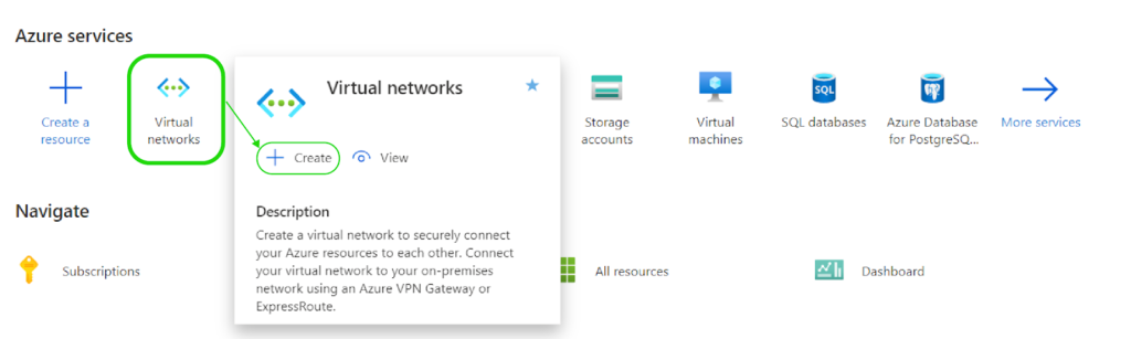Creating a Virtual Network for Your Objects - Azure Management Portal