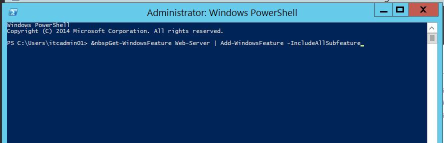 Administrator - Windows PowerShell