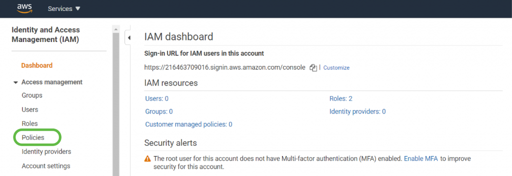Identity and Access Management Dashboard