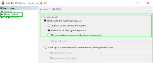 Appended backup set error - resolution