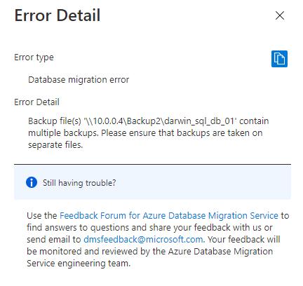 Appended backup set error