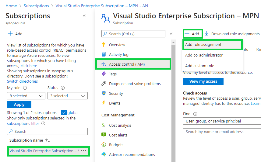 Azure Active Directory - Add new role