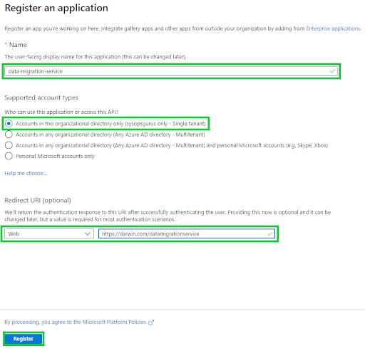 Azure Active Directory - Registration
