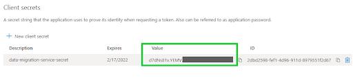 Azure Active Directory - certificates & secrets 2