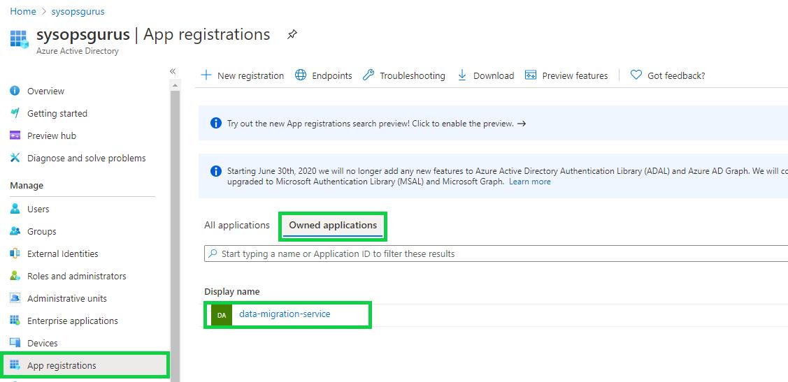Azure Active Directory - new client secret