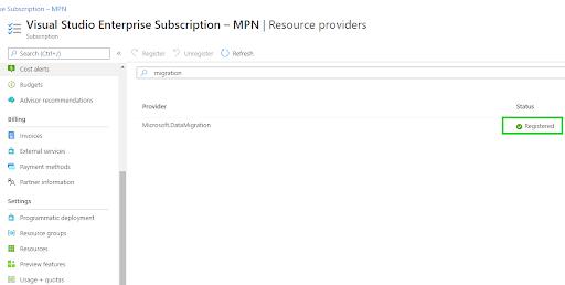 Create a Data Migration Service - Microsoft.DataMigration 2