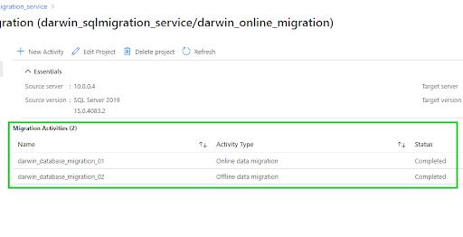 Microsoft SQL Server databases - online and offline migration