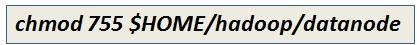 Modify Datanode Directory