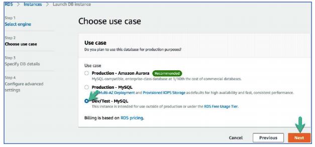 Choose use case