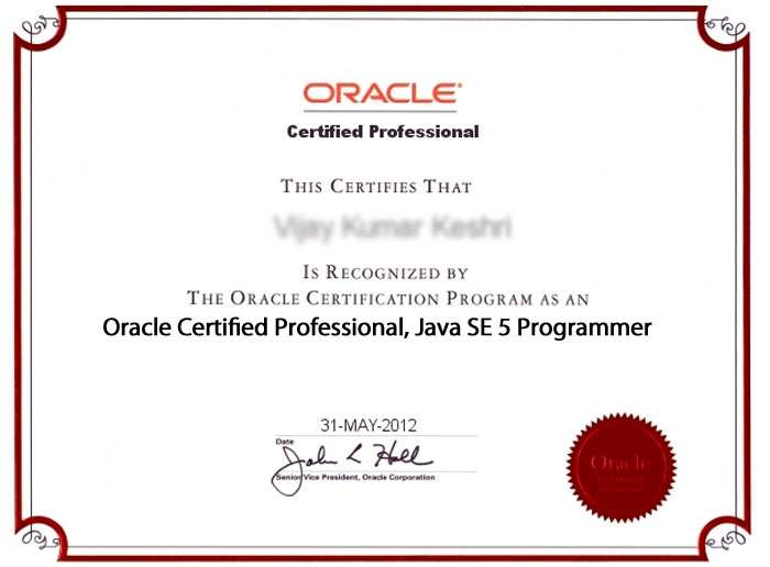 Oracle Certified Professional, Java SE 5 Programmer