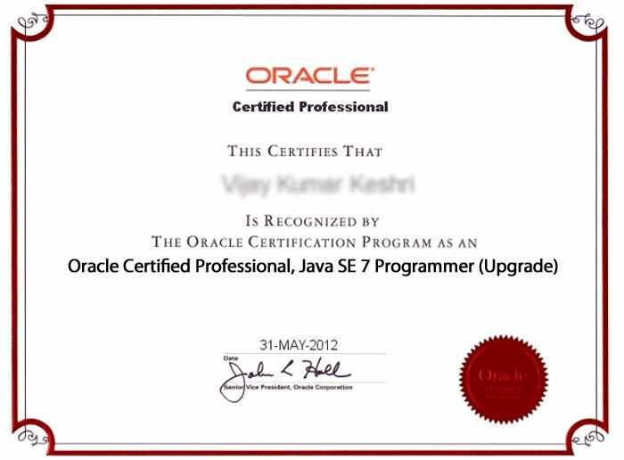 OCPJP/SCJP 7 Urgrade (Sun Certified Java Programmer) Exam Preparation