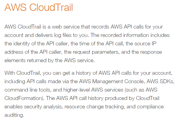 CloudTrail in AWS