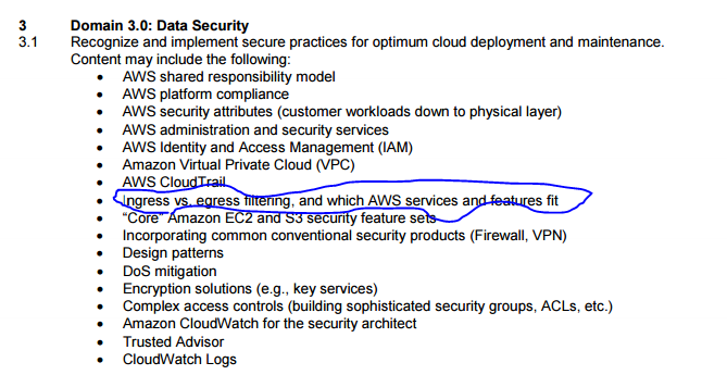 Ingress and Egress Security groups in aws