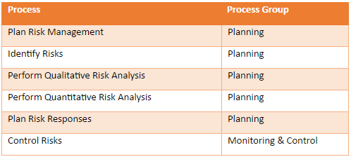 Risk Breakdown Structure (RBS) Process Groups