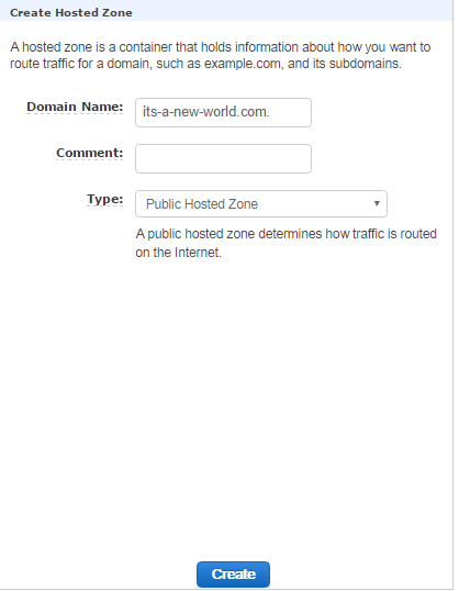 AWS S3- Create Hosted zone
