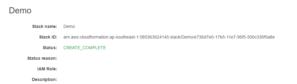 AWS Cloudformation - Status Completion