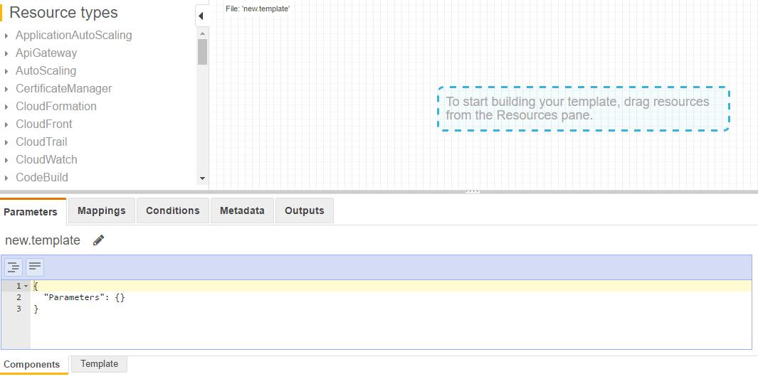 AWS Cloudformation- Template designer