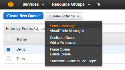 AWS SQS - Add message to Queue
