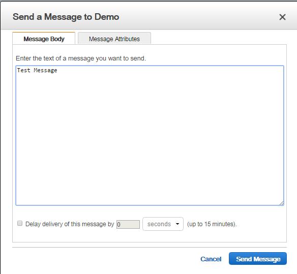 AWS SQS - Send Message