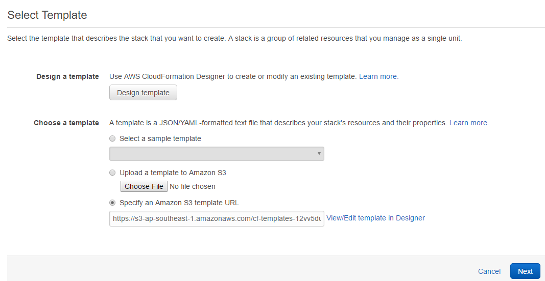 AWS Cloudformation- Template