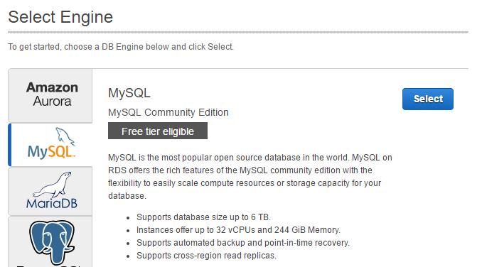 Choose Mysql engine