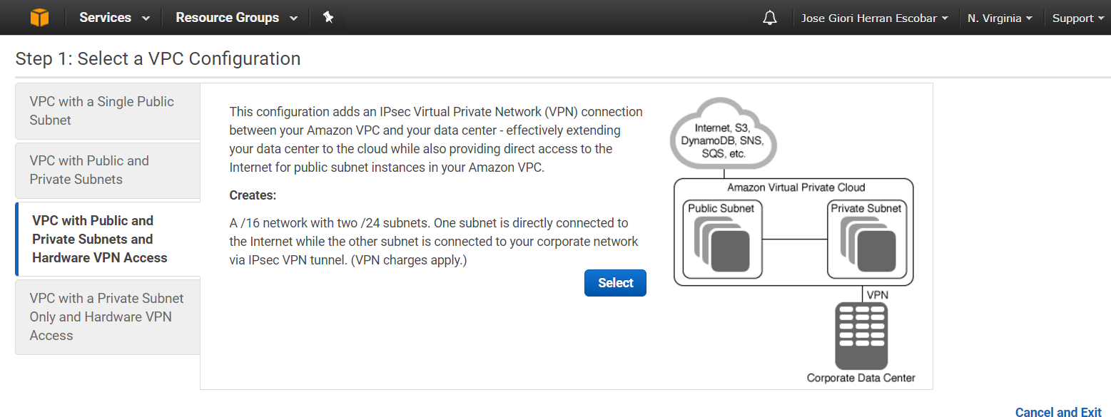 Getting started with the VPC Wizard