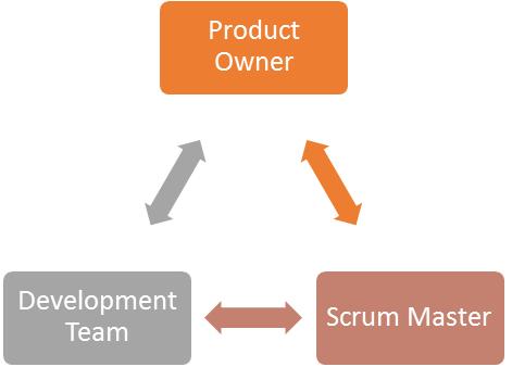 Three roles in Scrum