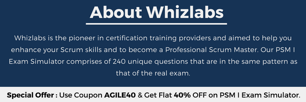 Professional Scrum Master PSM I Certification | Whizlabs